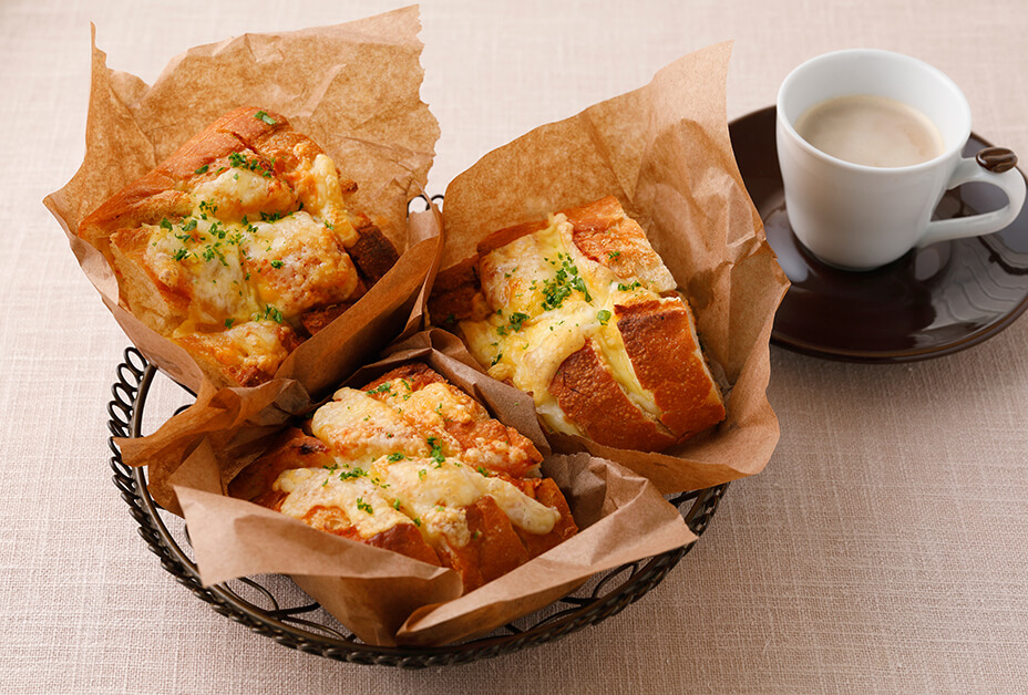 ピザ風ちぎりパン